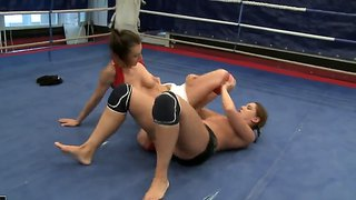 Orsay Fighting With Valentina Chevallier And Enjoying Her Tits