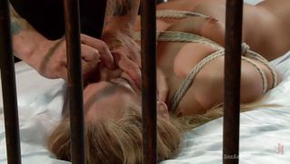 Slave Is Tied To The Bed And Rammed
