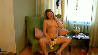 Blonde Exotic Polina Stripping For Your Viewing Entertainment In Solo Scene