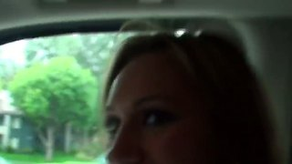 Amateur And Hot Action With Hollie Monroe And Lucky Guy Voodoo In His Car