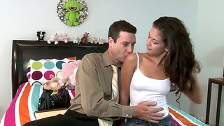 Otto Bauer Makes His Rock Hard Meat Stick Disappear In Incredibly Hot Ariana Fox's Mouth
