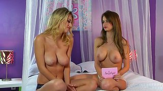 Hot Emily Addison Seduces Her Cute Lesbian Babe Natalia!