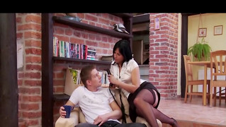 Dominatrixes Using Toys On Guys Ass
