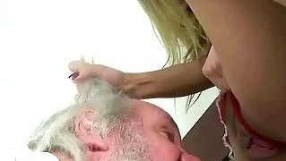 Hot Girl Humiliating A Grandpa