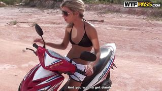Slim Blonde Chick Likes To Ride