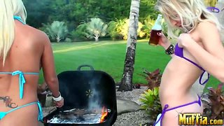 Topless Bbq With Molly Cavalli And Natalia Rogue