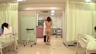 Nude Japanese Chick Rin Sakuragi Gets Examined By Dirty Doctors