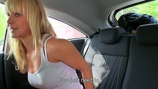 Cock Craving Blonde Bella Strips And Enjoys Getting Her Mouth Filled With A Fat Cock In A Car