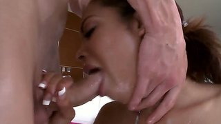 Superb Hottie Serena Ali Enjoys Large Cock Filling Her Tight Holes In Dirty Hardcore