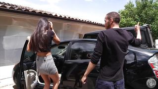 Mature Brunette Tricked Young Stud To Come Inside