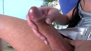 Mia Isabella Jerks Off Her Rock Hard 8 Inche Cock