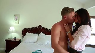 Beautiful Babe India Summer Seduces Her Son's Friend Michael Vegas