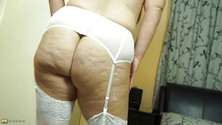 Lingerie Clad Mature Gets A Pleasure