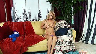 Hailey Holiday Bends Over And Fingers Herself