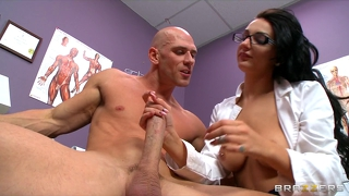 Slutty Doctor Amber Cox Convinces Patient To Fuck Her Rough