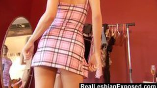 Naughty Personal Shopper Caught Fondling Her Client