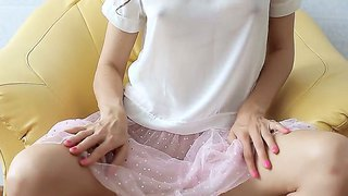 Teen Brunet Ballerina Is Revealing Her Boobs And Trimmed Pussy From Under Pink Panties