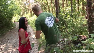 Sexy Brunette Biker Girl Terry Gives Blowjob And Gets Fucked...