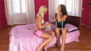 Jane Loves To Feel Her Hot Girlfriend's Wet Little Pussy By Licking It Firmly And Sensual