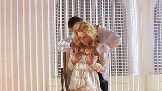 Glamorous Blonde Aprilia Gets Nailed Doggy Style