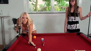Capri Anderson?s Bare Ass Pool With Molly Cavalli