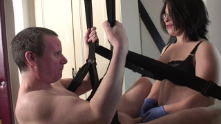 Strapon In Sex Swing