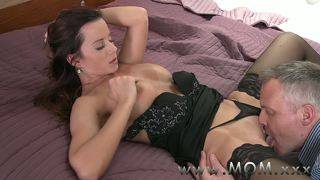 Mom Brunette Milf Pleases Her Man