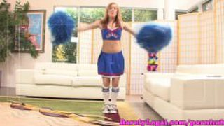 Dani Jensen Cheerleader Gets A Creampie
