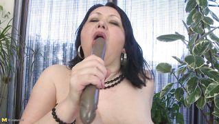 Mature Bbw Uses Her Double Dildo