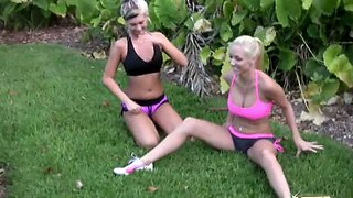 Hot Gymnastics From Danica Blue And Molly Cavalli