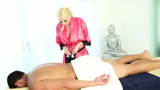 Masseuse Blonde Slut Massage