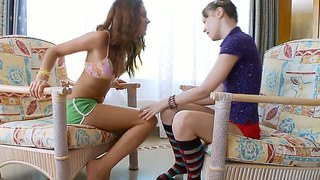 Lesbian Cutie Pies Play Footsies ... And More
