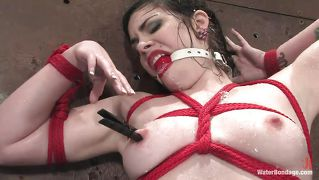 Red Rope For A Babe With Red Lips