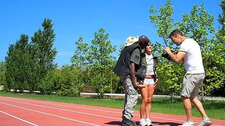 Sporty Uniformed Mira A And Sasha Rose Gangbanged