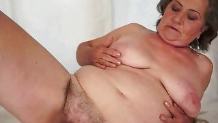 Hairy Granny Enjoying Nasty Sex