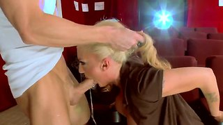 Dirty Guy Johnny Sins And Blonde Leya Falcon In Public