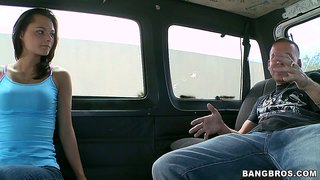 Cheerful Mimi Rayne Nailed On The Bangbus