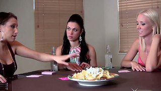 Horny Alyssa Reece, Celeste Star And Molly Cavalli Are Playing Strip Poker