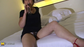 Hairy Mature Cunt Masturbating With A Dildo
