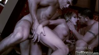 Vampire Whore Gets Fucked Really Hard By Two Hard Dicks