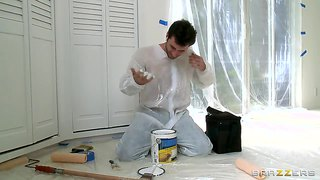 Ava Hires James To Paint Her Home And Her Body With A Sperm Load