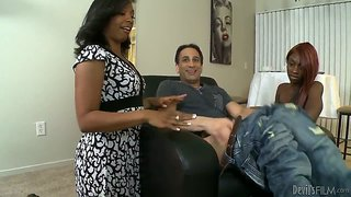 Anita Peida Shows Her Daughter Sky Hustle Blowjob Tricks