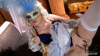 Pussy Playing In Mask And Gown