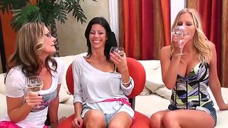 Sexy Milf Brianna Ray Entertains Her Lesbian Friends