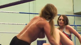 Cute And Pretty Babes Cathy Heaven And Nelly Sullivan In The Exciting Fighting Scene