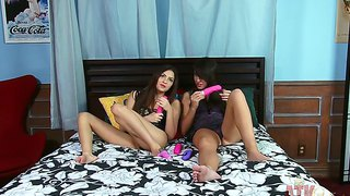 Natalie Heart Plays With Sex Toys Together With Gf