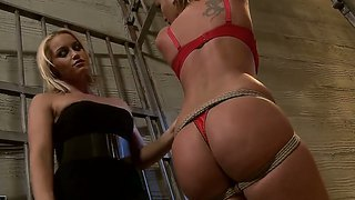 Kathia Nobili Came To Educate Slutty Prisoner Pamela Using Ward's Toys