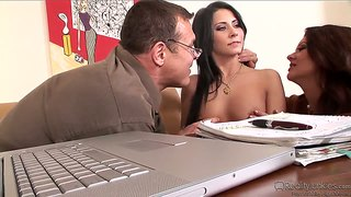 Raquel Devine And Her Hubby Fuck A Sexy Teen