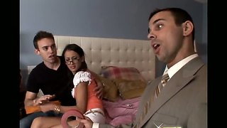 Amia Miley,trent,voodoo In Hotel Room Threesome