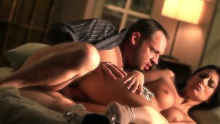 Lovely Couple Nikki Daniels And Alec Knight Perform A Magnificent Sexplay In Their Marriage Bed